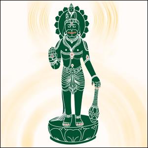 Hanuman Marakata Moorti